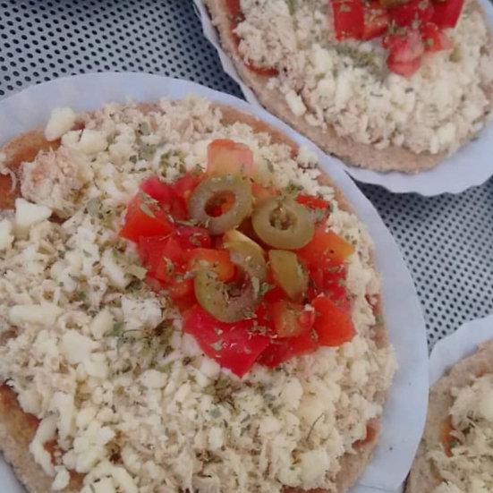 Mini pizza low carb de frango com mussarela - 180g