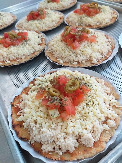 Mini pizza integral de frango com mussarela - 140g