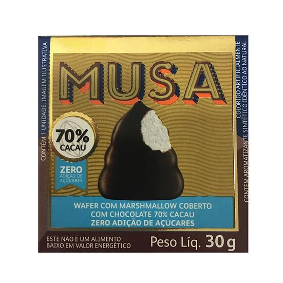 Wafer com Marshmallow coberto com chocolate 70% cacau Gold & Ko - 30g