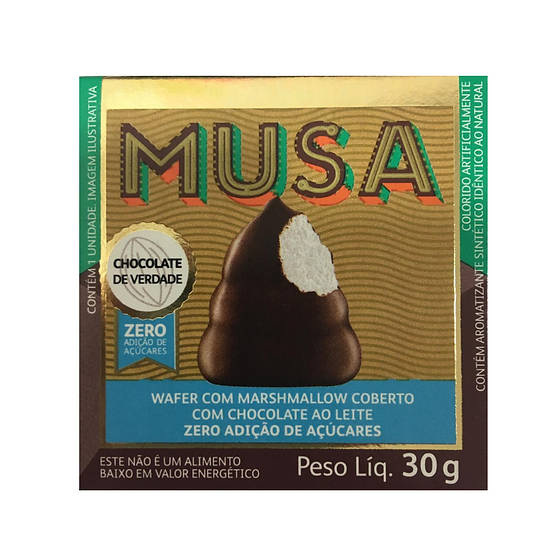 Musa - Wafer com Marshmallow coberto com chocolate ao Leite Gold & Ko - 30g