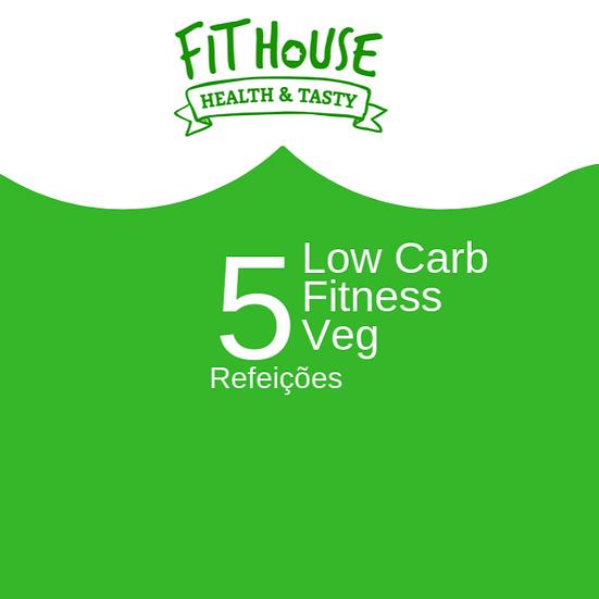 Low carb / Fitness / Veg - 5 refeições