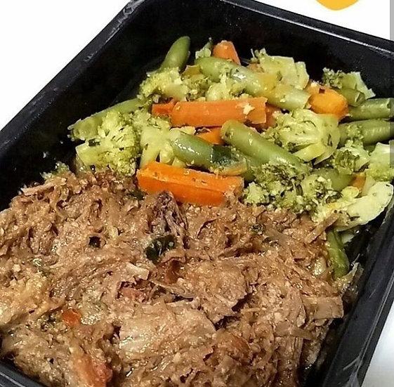 Patinho desfiado com legumes - 250g
