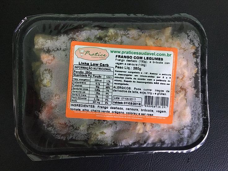 Frango desfiado com legumes - 250g