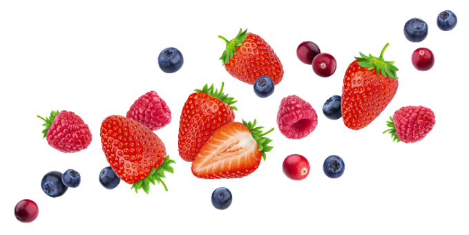 flying-berries-isolated-white-background