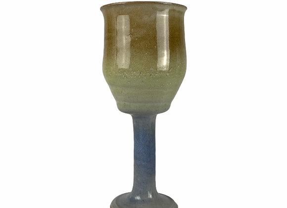 Handmade Ceramic Wine Goblet-Stoneware Clay Pottery