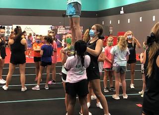 MHS Cheerleaders host Cheer Camp for PTC Rec Cheerleaders