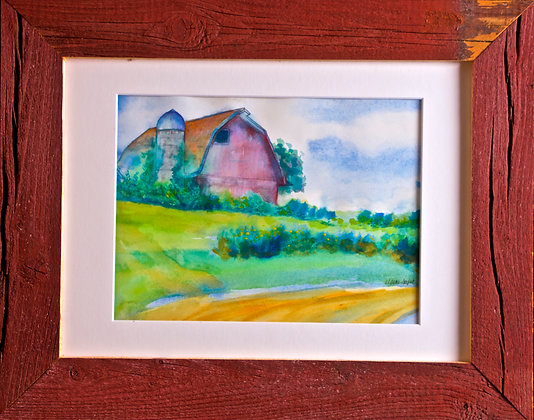 Barn and Clouds