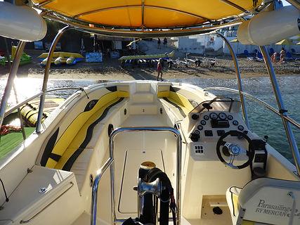 kolymbia parasailing yellow boat
