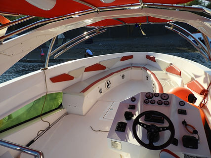 parasailing boat red interior kolymbia