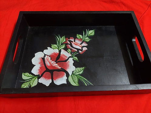 Wooden Hand Painted Try