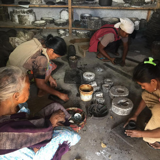 Black pottery making process