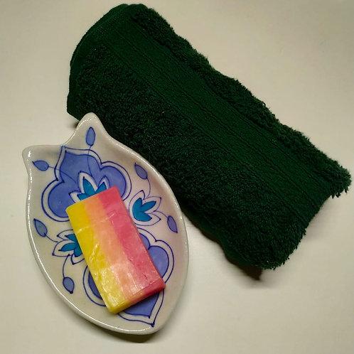 Handmade Art Pottery Soap Dish Holder Bathroom Accessories