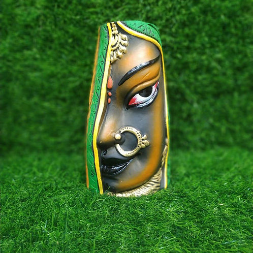 Terracotta Vase Side Face Lady