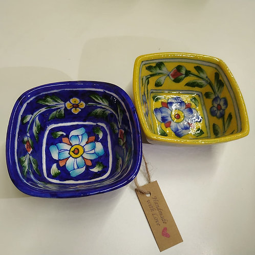 Decorative Hand Painted Square Bowls