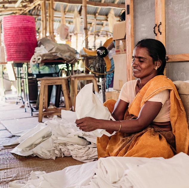 Cotton bag making