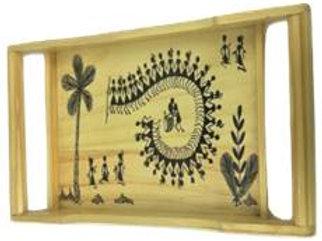 Tray with Warli art