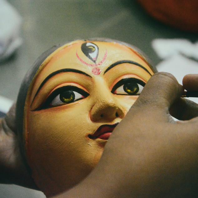 Artist Making Devi