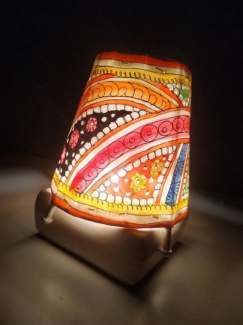 "Handmade Leather Lamp Shade (5"" Multi Colour))"