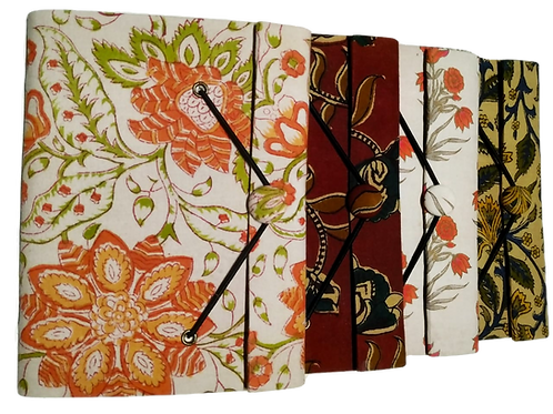"""Handmade Paper Diaries with button (8.5x6"""")"""