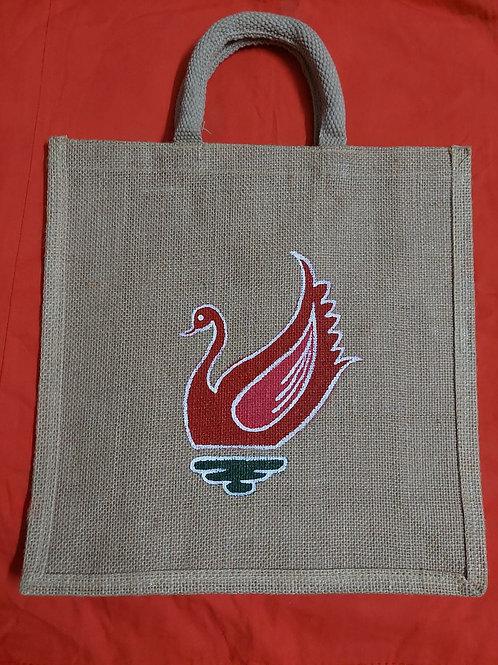 Hand Painted Jute Bag/Tiffin Bag