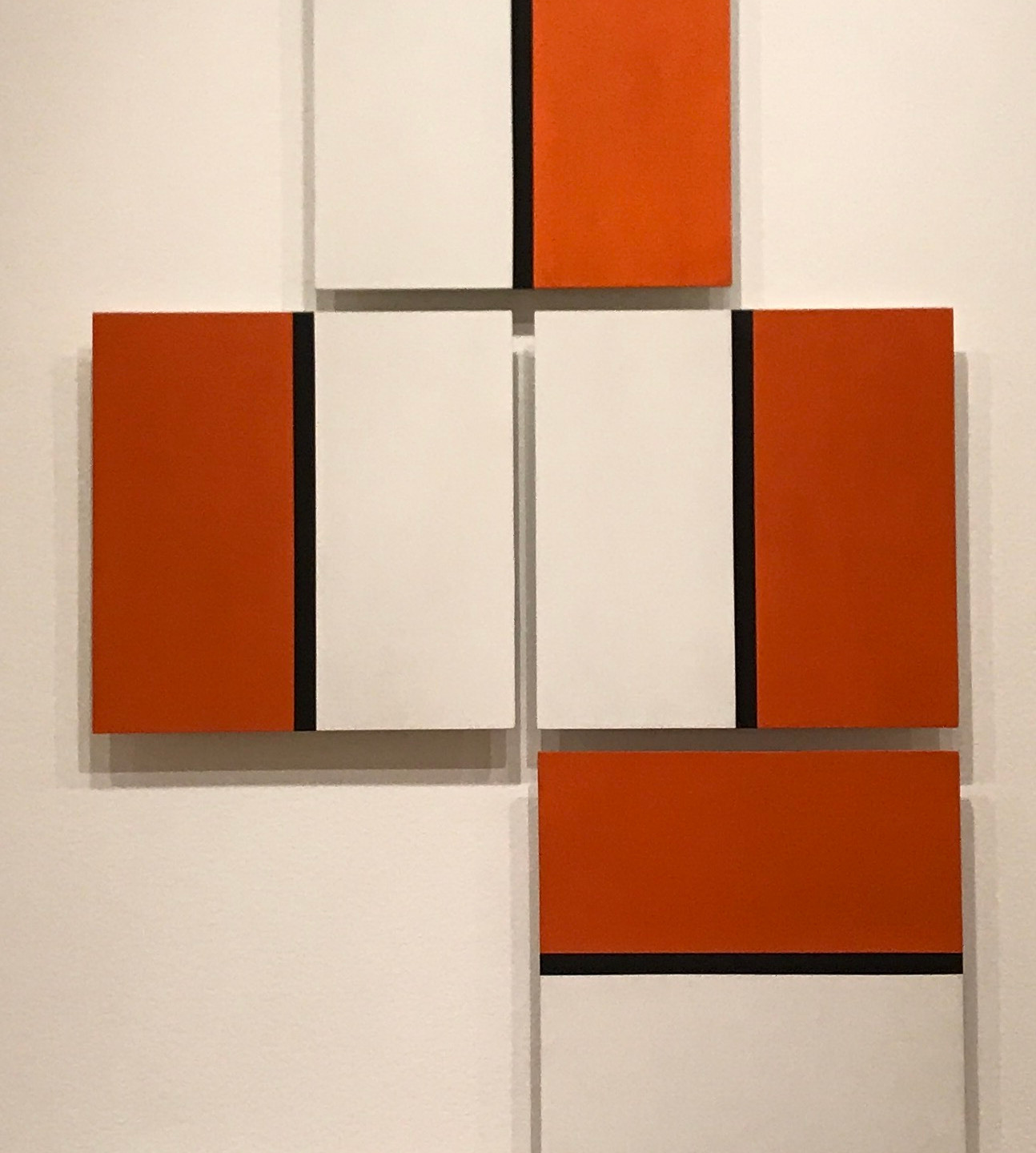 Lygia Pape, Orange (Laranja) (1955), oil and tempera on board, 15 5/8 x 15 5/8 x 1 1/2 in.