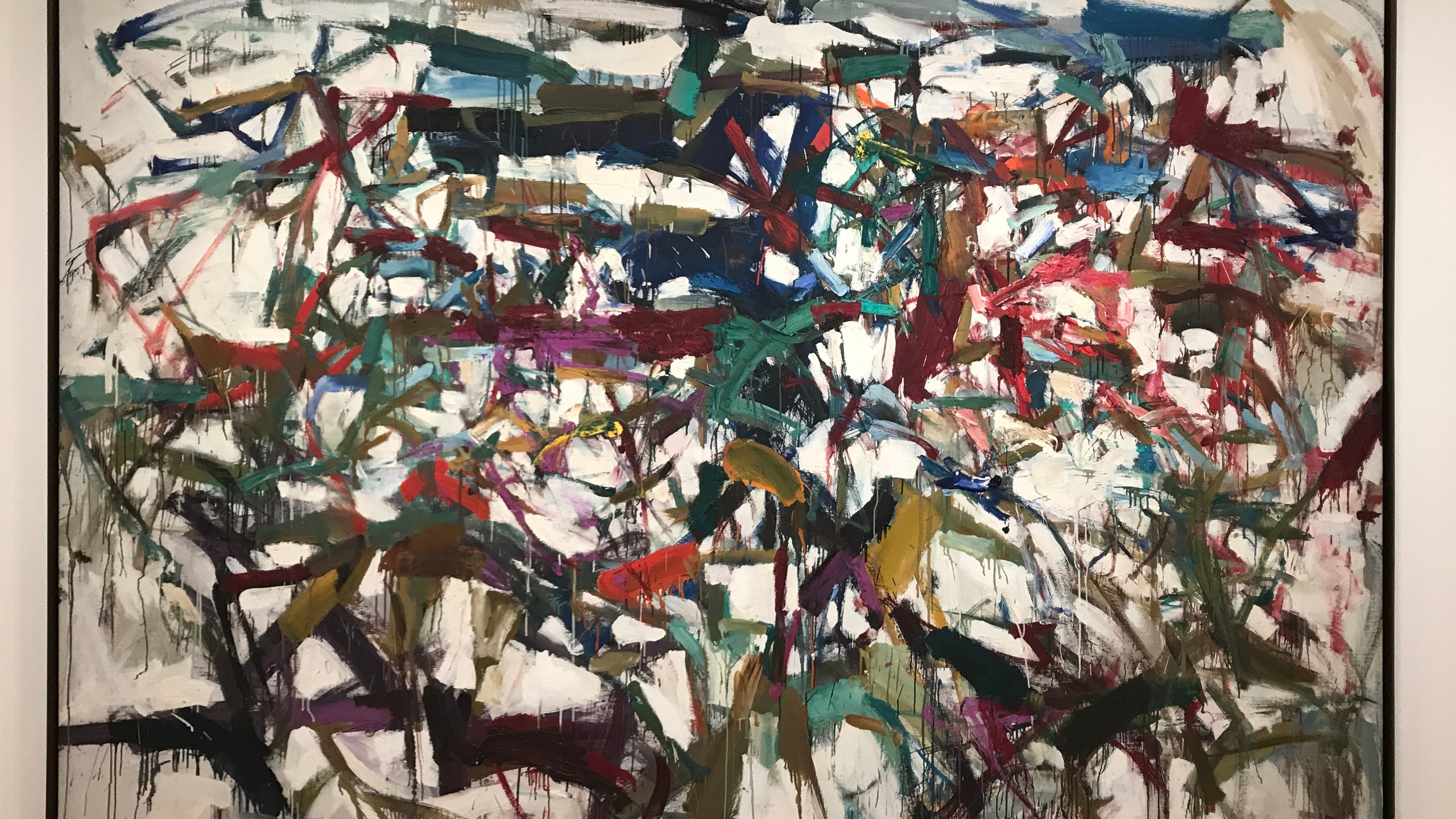 Joan Mitchell, Ladybug (1957), oil on canvas, 6' 5 7/8 x 9 in.