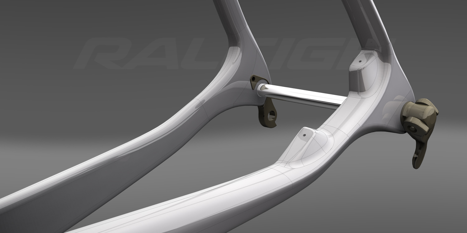 Raleigh  |  disc brake frame detail