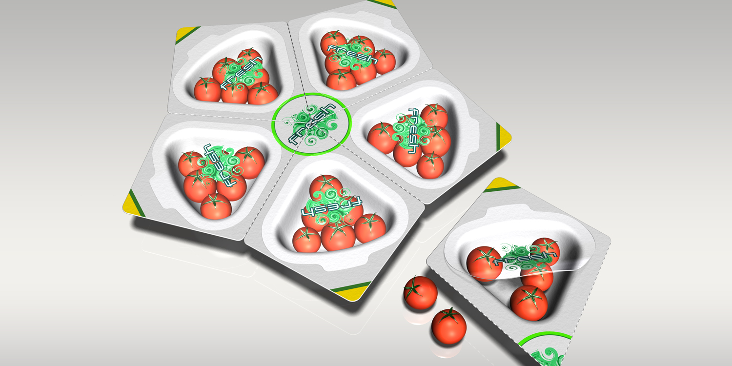 Fresh  |  tomato snack packaging