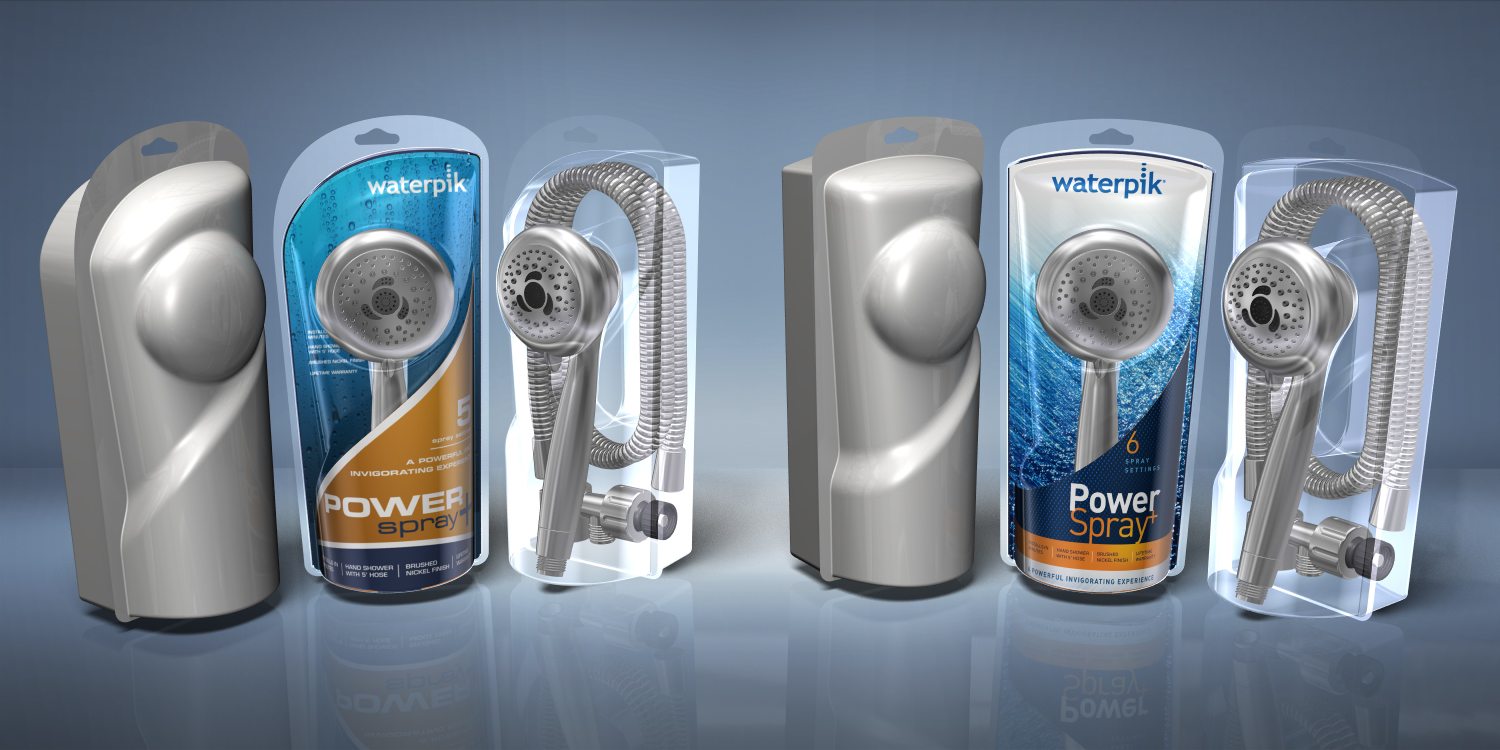Waterpik  |  Showerhead packaging