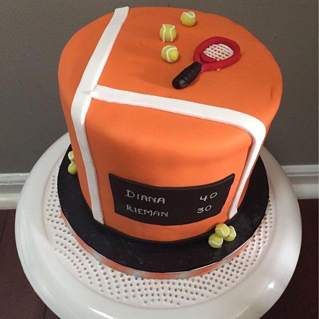 #nj #southbrunswick #njcakes #tenniscake #cakes #fondant