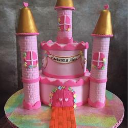 #cake #fondant #fondantcake #fondantcakes #southbrunswick #newjersey #njcakes #castlecake #girlbirth