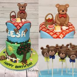 #bearcake #bearpicnic #fondantcake #cake #1stbirthday #fondant #teddybear #cakesomenj #southbrunswic