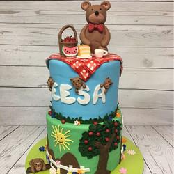 #fondantcake #njcakes #nj #bearcake #1stbirthday #fondant #princeton #southbrunswick #cake #cakesome