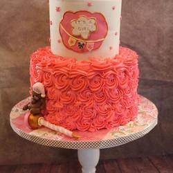 #nj #southbrunswick #babyshower #babygirl #babygirlshower #fondantfigure #fondantcake #fondant #pink