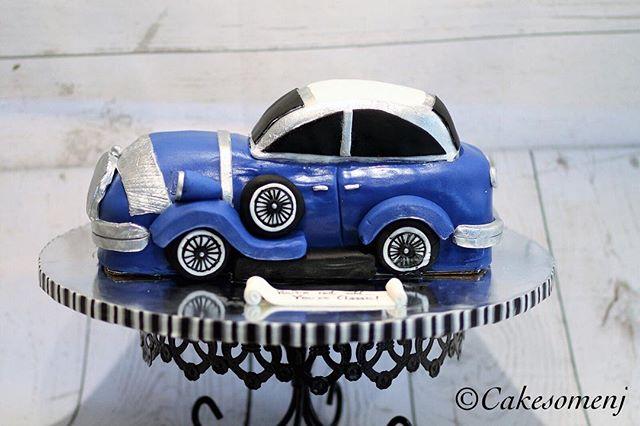 #fondantcake #cakesomenj #fondantcar #antiquefondantcar #fondant #carvedcake #30thbirthday #nj #njca
