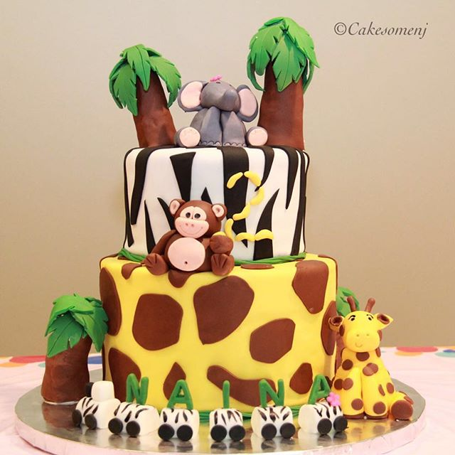#cakes #birthdaycakes #birthdaycake #njcakes #southbrunswick #fondantcake #animalcake  #junglecake #