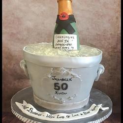 #celebration #celebrationcake #champagne #cakes #fondant #50birthday #fondant #nj #southbrunswick #b