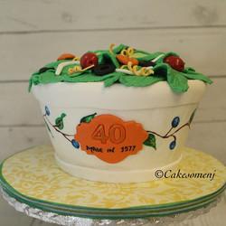 Salad Bowl Cake #customcake  #foodcake #saladcake  #salad #saladbowl #cake  #njcakes #nj #southbruns