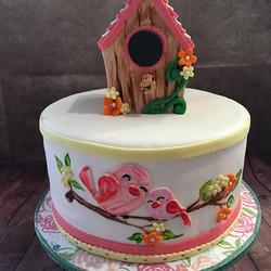 #cakes #birthdaycakes #babyshowercake #njcakes #southbrunswick #babygirlshower #birdhousecake #pinkc