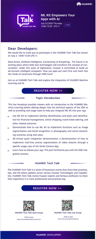 HUAWEI Tech Talk - Explore the integration of Huawei Machine Learning and AI