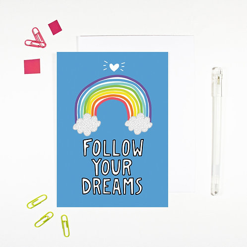 Follow Your Dreams Affirmation Card by Angela Chick