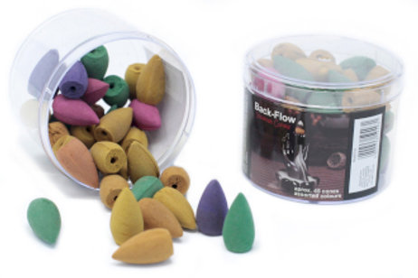 Tub of Assorted Back Flow Incense Cones