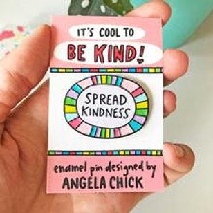 Cool to Be Kind Enamel Pin by Angela Chick