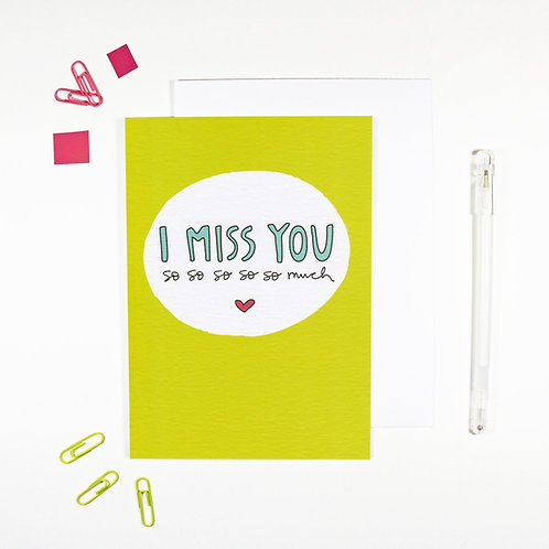I Miss You Affirmation Card by Angela Chick