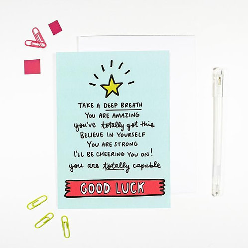 Good Luck Affirmation Card by Angela Chick