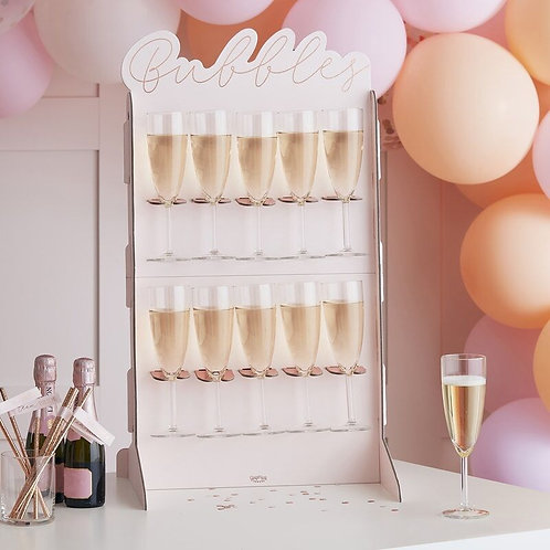 Rose Gold foiled & Blush Bubbley Wall