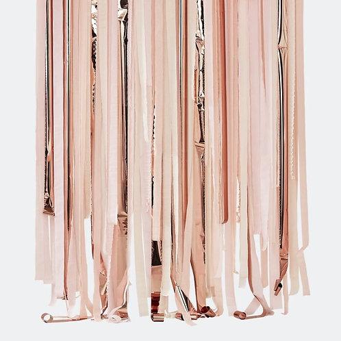 Blush Pink & Rose Gold Party Streamers Backdrop Kit