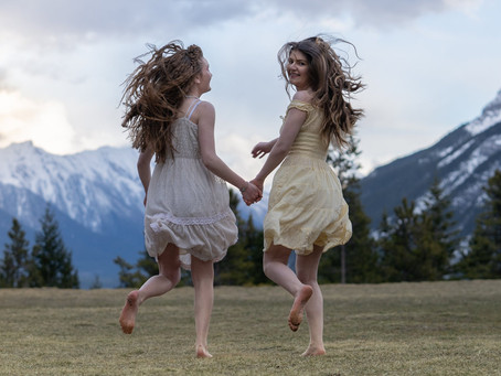 Portrait Photography Session in Banff: Brielle and Avery