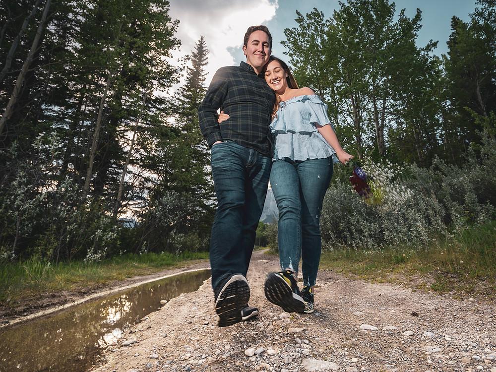 Banff Johnson Lake photo shoot