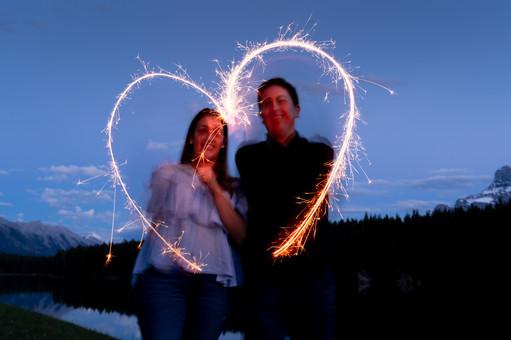 Sparkler heart johnson lake